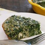 Рецепт для диеты Дюкана этап Круиз (чередование): Пирог со шпинатом