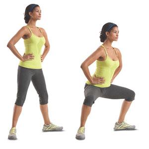 Видео упражнения для похудения бедер