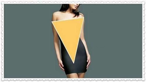 Тип фигуры «Перевернутый треугольник»