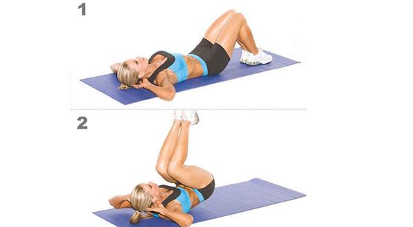Упражнения на нижний пресс