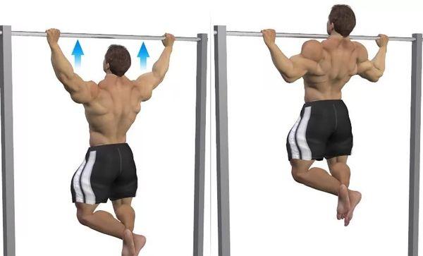 упражнение на турнике для спины