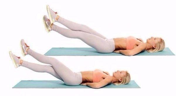 упражнение ножницы для похудения ног