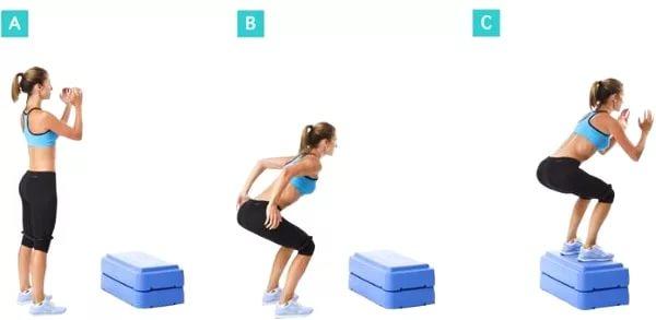 Упражнение запрыгивание на возвышенность