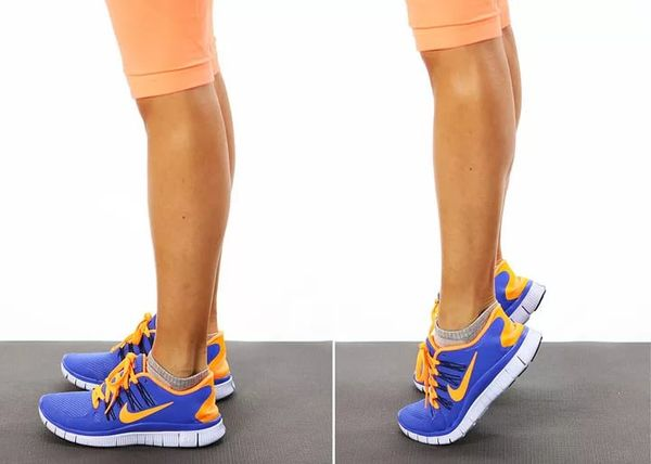 Упражнение подъемы на носки