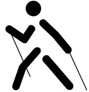 скандинавская ходьба с палками, техника