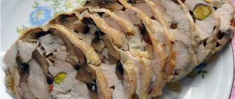 Рецепт к празднику по диете Дюкана, этап Атаки: куриный рулет Мраморный