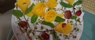 Праздничный легкий тортик