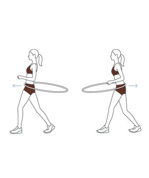 Видео упражнения с обручем для похудения