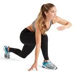 Как убрать жир с коленей: видео упражнения