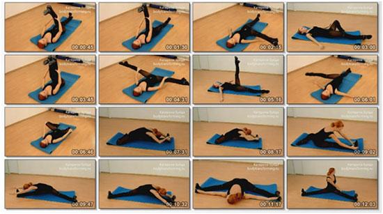 Упражнения на растяжку ног для шпагата с попеременной нагрузкой на мышцы и связки