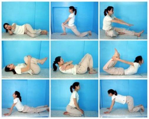 Упражнения для растяжки мышц спины, обеспечивающие нормальную работу позвоночника.