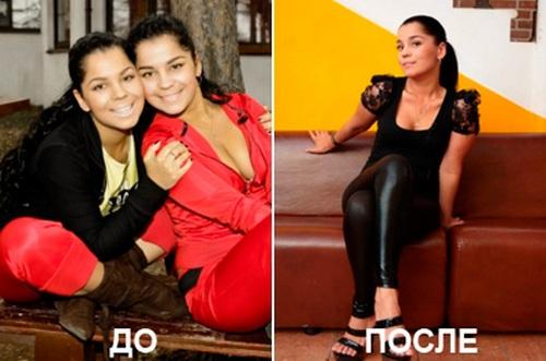 Катя Колесниченко: фото до и после