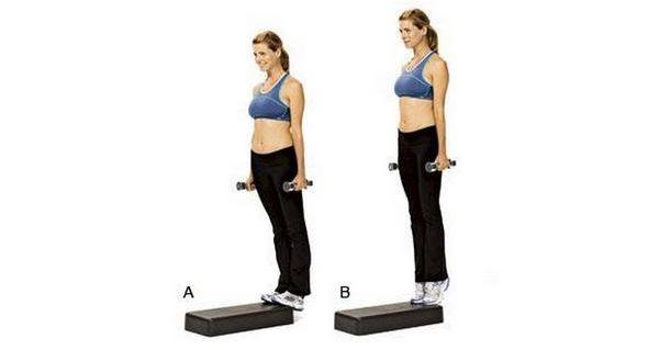 Упражнение подъемы на пружине