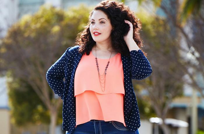 Модные блузки, которые стройнят: для полных женщин