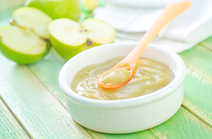 Яблочное детское пюре без сахара