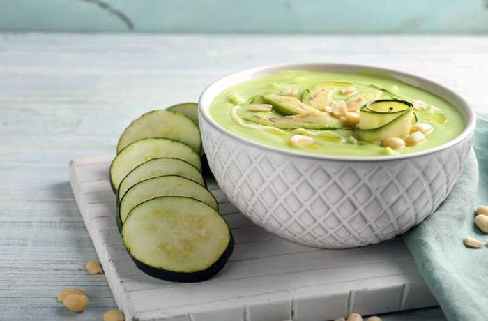 Суп-пюре из кабачков и творога